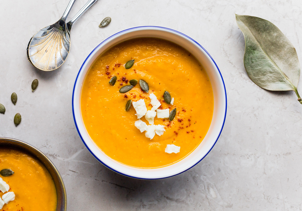 Simple Low Carb Sweet Potato Soup