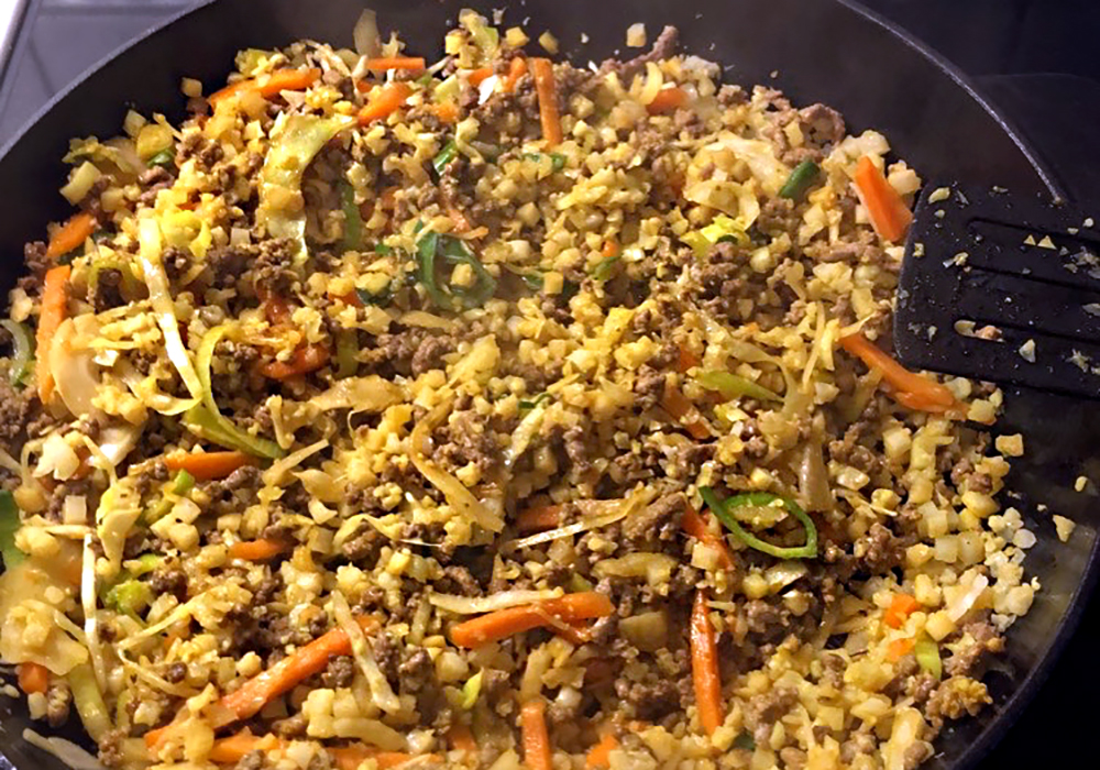 Easy Cauliflower Rice Skillet | Simplisticly So